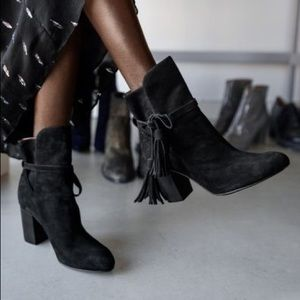 & Other Stories Tassel Detail Suede Ankle Boots